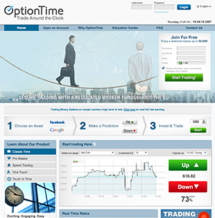 Option Time Homepage