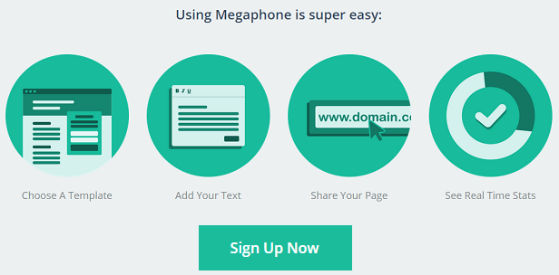 Megaphone.com - Online app for creating better marketing pages