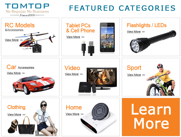 TomTop.com - Online China wholesale retail store