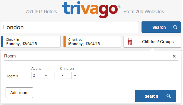 Click here to visit trivago.com.