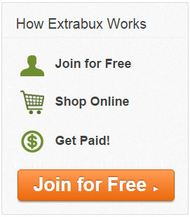 Extrabux.com - Earn cash back and get coupons when you shop online