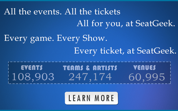 SeatGeek.com - The Web's largest Sports and Concerts Ticket Search Engine