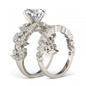 Rhodium plated 925 sterling silver