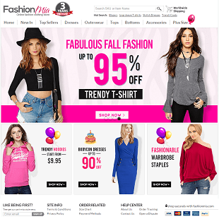 Fashion Mia online shopping site