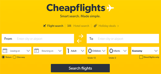 Cheap Flights - We Search Thousands Of Fares To Help You Find The Cheapest Flights Available. Book Now For Cheap Flights Up To 60% Off!