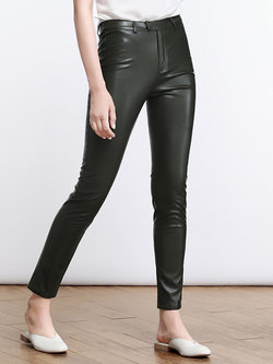 Edgy leather pants