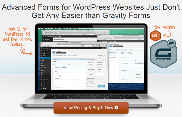 GravityForms.com - Contact form builder and lead data management pluging for WordPress