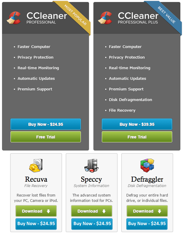 Priform.com - Download CCleaner software and other system utilities