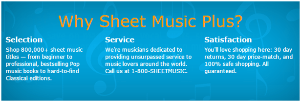 SheetMusicPlus.com - World's Largest Sheet Music Selection
