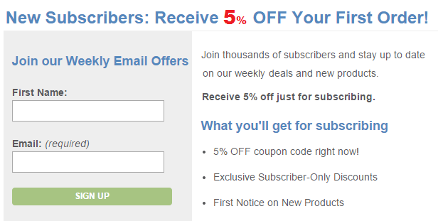sign up and get 5% discount on Global Healing Center products