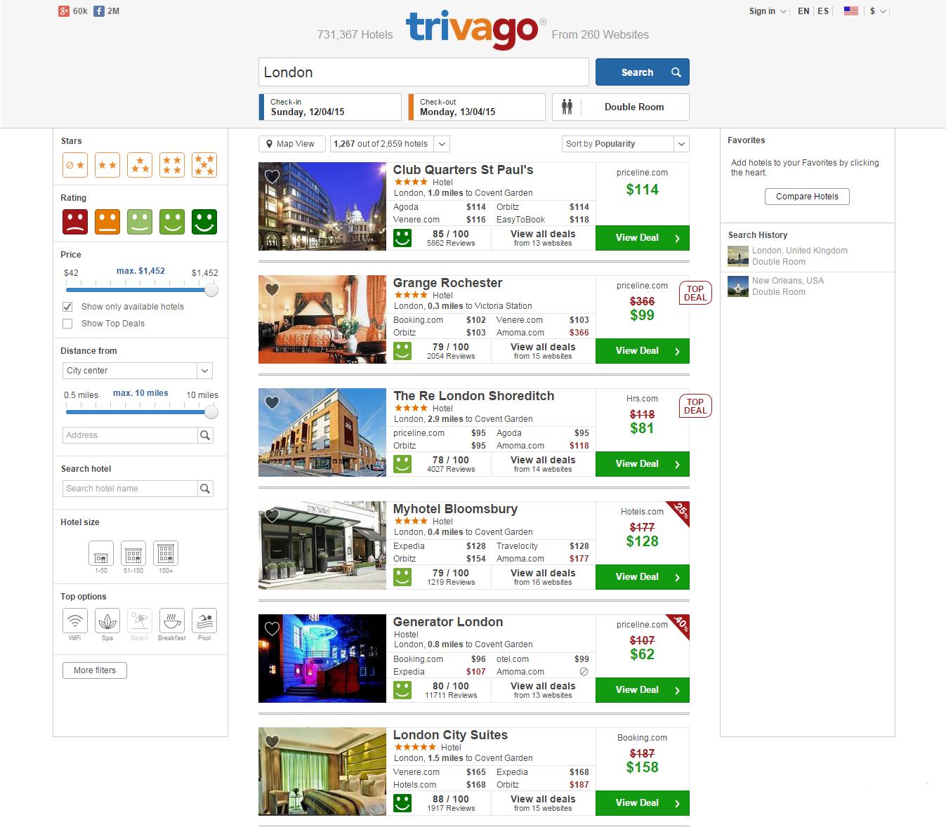 Trivago.com Review