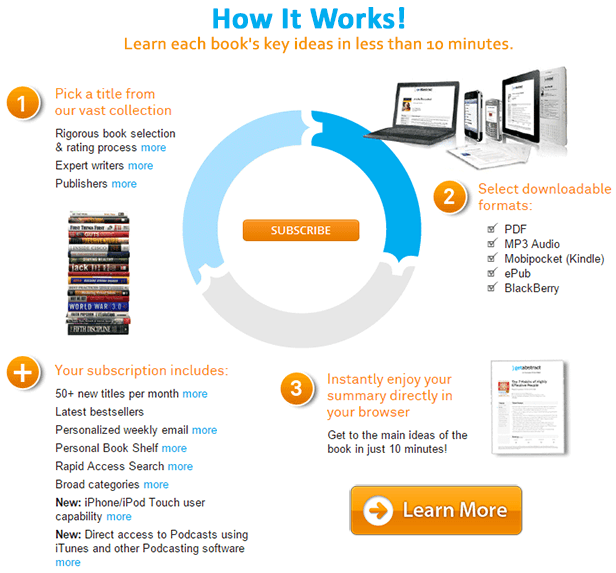 GetAbstract.com - Learn Business books summaries in less time
