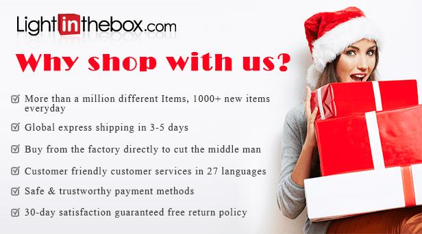 Lightinthebox.com - Online shopping site for dresses, electronics, home & garden, and cheap gadgets