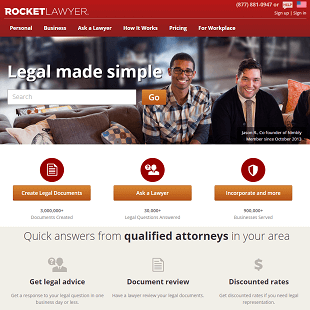 RocketLawyer.com Review