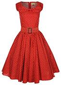 woman dress red