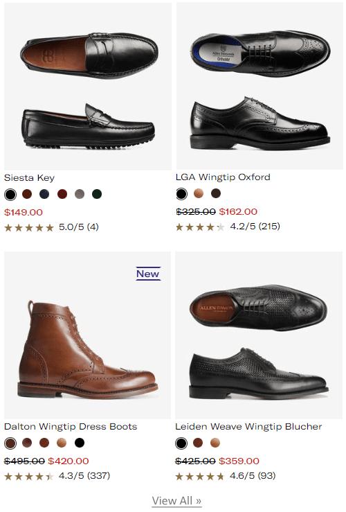 Ellen Edmonds- Online store for men's shoes and clothing
